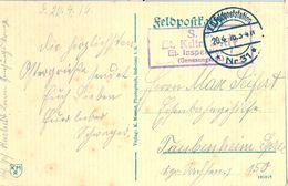1916 , ALEMANIA , TARJETA POSTAL CIRC. A TAUBENHEIM , FELDPOSTSTATION NR. 31 / ET. INSPEKTION 7 - Cartas