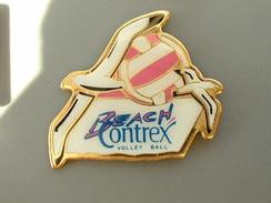 PIN'S  VOLLEYBALL - BEACH CONTREX - BALLON ROSE - Volleyball