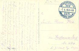 1915 , ALEMANIA , TARJETA POSTAL CIRC. A SEIFHAMMERSDORF , FELDPOSTEXPEDITION / INFANTERIE - DIVISION - Cartas