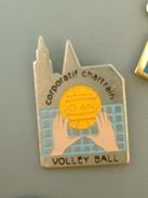PIN´S  VOLLEYBALL - CORPORATIF CHARTRAIN 20 ANS - CHARTRES - Volleyball