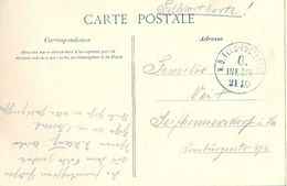 1915 , ALEMANIA , TARJETA POSTAL CIRC. A SEIFHAMMERSDORF , K.D. FELD - POSTEXPED. / 6 . INF. DIV. / 21 10 - Cartas