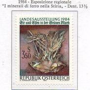 """PIA  -  AUSTRIA  -  1984 : Esposizione Regionale """" I Minerali Di Ferro Nella Stiria""""-   (Yv  1603) - Minerali"""