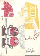 Buvard. Lot N°3 De 10 Buvards Différents Sur Les Potages - Potages & Sauces