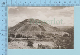 Mexico - Sn Juan Teotihuacan. Piramide Del Sol - Real Photo  2 Scans - Mexique