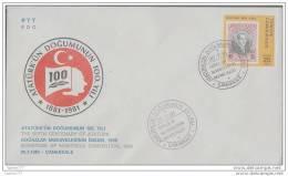 OD-0677 1981 TURKEY SIGNATURE OF MONTREUX CONVENTION DARDANELLES F.D.C. - 1921-... République