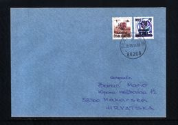 Bosnia And Herzegowina Mostar 1994 Interesting Letter With Mostar Privately Overprinted Yugoslavian Stamps Scarce - Bosnia And Herzegovina