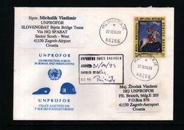 Bosnia And Herzegowina Mostar 1994 Interesting Military UNPROFOR Letter - Bosnia And Herzegovina