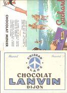 Buvard. Lot N°7 De 10 Buvards Différents Sur Le Chocolat - Cocoa & Chocolat