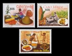 Cape Verde 2014 Mih. 1029/31 Flora And Gastronomy. Maize MNH ** - Cape Verde