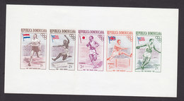 Dominican Repbulic, Scott #478b, Mint Hinged, Olympics, Issued 1957 - Dominican Republic