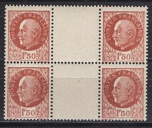 FRANCE 1941 - BLOC DE 4 TP Y.T. N° 517 - NEUFS** /Y186 - France