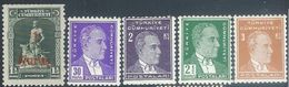 Turkey  1931  5 Better  MH*  2016 Scott Value $4.50 - 1921-... République