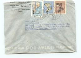 1955  Lettre Avion Pour Les USA    Papillons, Carte - Mozambique