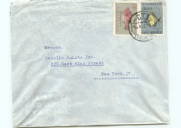 1953  Lettre Avion Pour Les USA Poissons  8$00, 0$30 - Mozambique
