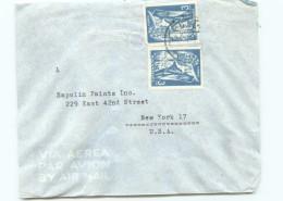 1950  Lettre Avion Pour Les USA  Extension De L'Année Sainte X2 - Mozambique