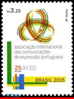 Ref. BR-V2015-06 BRAZIL 2015 JOINT ISSUE, WITH PORTUGAL & OTHERS,, AICEP,INTL.ASSOC.COMM.PORTUGUESE, MNH 1V - Brazil