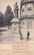 Cp , 75 , PARIS , La Statue De Shakespeare, Par P. Fournier - France