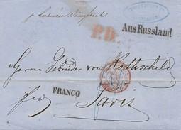 Russland: 1857: Minden/Deutz - Aus Russland - Nach Paris - Russie & URSS