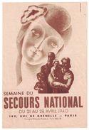 1940 C'EST LA GUERRE SEMAINE DU SECOURS NATIONAL149 RUE DE GRENELLE PARIS ( CLAUDE LEMEUNIER ) - Publicités
