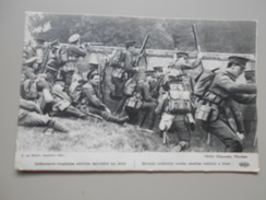 MILITARIA GUERRE 1914 INFANTERIE ANGLAISE ABRITEE DERRIERE UN MUR  ECRITE LE 25/10/1914 - Guerra 1914-18