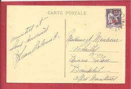 Y&TN°478 SEUL SUR CP LIMOGES    Vers  BEAUSOLEIL  1945 2SCANS - Marcophilie (Lettres)