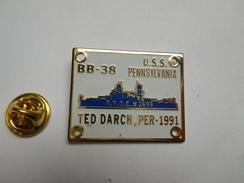 Beau Pin's , Marine Bateau , USS Pennsylvania BB-38 , Cuirassé De La Marine Américaine - Barcos