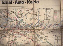 8-230 IDEAL AUTO KARTA - Vintage, Old Car Map, Sekcija Zagreb--old Map , Period Kingdom Of Yugoslavia??? - Strassenkarten