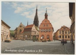 AK  Gau Algesheim Kreis Mainz Bingen Marktplatz Volksbank - Bingen