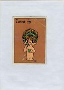 141209  Vecchia Figurina PANINI FIGURINE PANINI SERIE LOVE IS NUMERO 54 - Altri