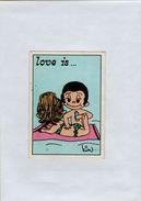 141209  Vecchia Figurina PANINI FIGURINE PANINI SERIE LOVE IS NUMERO 161 - Altri
