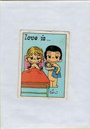 141209  Vecchia Figurina PANINI FIGURINE PANINI SERIE LOVE IS NUMERO 235 - Altri