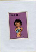 141209  Vecchia Figurina PANINI FIGURINE PANINI SERIE LOVE IS NUMERO 256 - Altri
