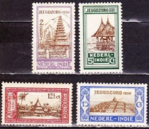 Ned. Indië: 1930 Jeugdzorg Ongestempelde Serie NVPH 167 / 170 - Netherlands Indies