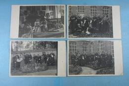 Lot 4 Cartes Photos D'un Pensionnat (Photographe Philippe De Laeken) - Cartes Postales