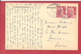 Y&TN°721X2 PARIS    Vers SUISSE   1948 2 SCANS - 1921-1960: Modern Period