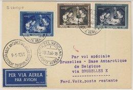 Vatikan - Weihnachten 1960, Satz A. Lupo-Karte über Brüssel N. Base Antarctique - Sin Clasificación
