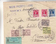 Vatican - Devant De Lettre Recom De 1929 - Oblit Poste Vaticano - Exp Vers Revin En France - Lettres & Documents