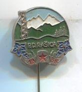 Alpinism, Mountaineering, Climbing - PD RASICA, Slovenia, Vintage Pin, Badge, Abzeichen - Alpinism, Mountaineering