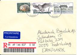 Sweden Registered Cover Sent To Denmark Stockholm 23-11-2000 - Sweden