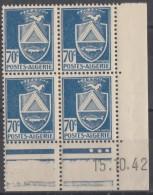 N° 188 En Coin Daté 15/10/42 - X X - ( C 644 ) - Algérie (1924-1962)