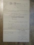 1912 2 DOCUMENTS CONCERNANT LA REMISE DE LA MEDAILLE ORANJE NASSAU PAR  WILHELMINA KONINGIN DER NERLANDEN - Documents Historiques