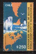 "Chile 1989 International Stamp Exhibition ""World Stamp Expo '89"" - Washington D.C.Bears/Birds/Penguins/maps.MNH - Chile"