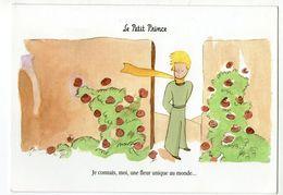 CPM   ANTOINE DE SAINT EXUPERY     LE PETIT PRINCE      JE CONNAIS MOI UNE FLEUR UNIQUE AU MONDE - Contemporary (from 1950)