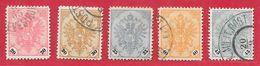 Bosnie-Herzégovine N°24 à 28 1901-07 O - Bosnie-Herzegovine
