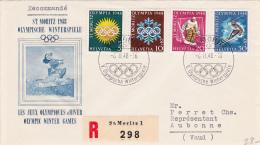 No W25 à W28 Sur Lettre : St.Moritz 1948, Olympische Winterspiele - Jeux Olympiques D'hiver - Obl.le 6.II.48 - Switzerland