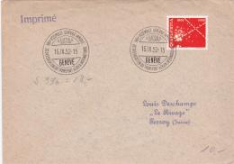 Lettre :VIIème Assemblée Générale Annuelle De L'Association Du Transport Aérien International, Genève Le 15.IX.52 - Lettres & Documents