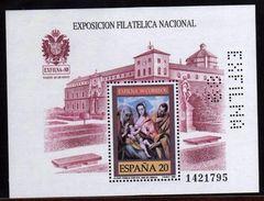 Girostamps54.- ESPAÑA.- PRECIOSA HOJA BLOQUE DE EXFILNA 89 -- PERFORADA --- PERFINS - Hojas Conmemorativas