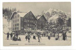 17610 - Grindelwald Hôtel Schweizerhof Mit Wetterhorn Patineurs - BE Berne