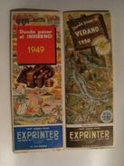 EXPRINTER. DONDE PASAR EL INVIERNO - SOUTH AMERICA, 1949-1950. RIO DE JANEIRO, LAGOS ANDINOS Y CHILE COLOUR MAPS 78X56 - Reiseprospekte