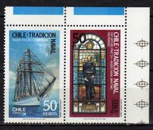 "Chile 1988 Naval Tradition.Transportation/Ships.""Capt. Arturo Prat"" MNH - Chile"